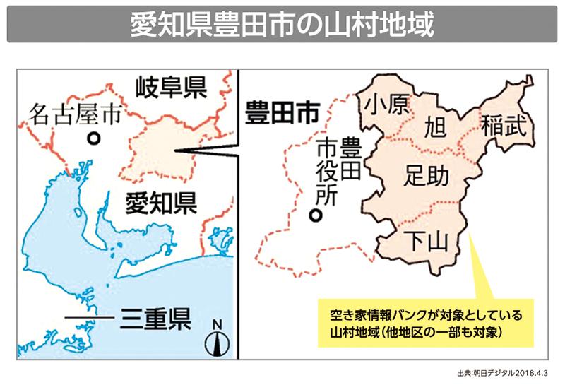 愛知県豊田市の山村地域